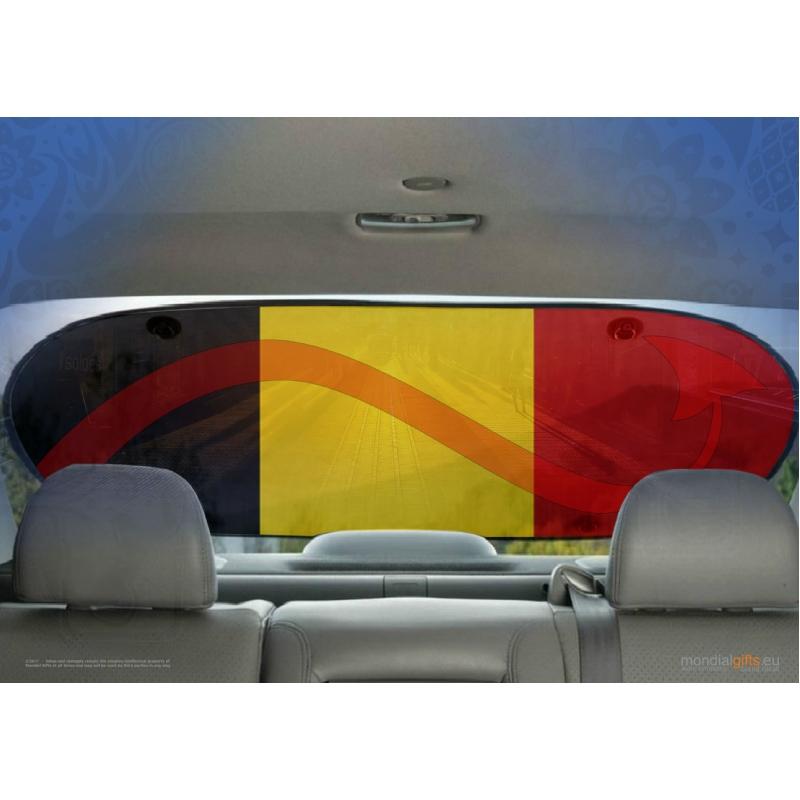Duivels zonnescherm voor auto