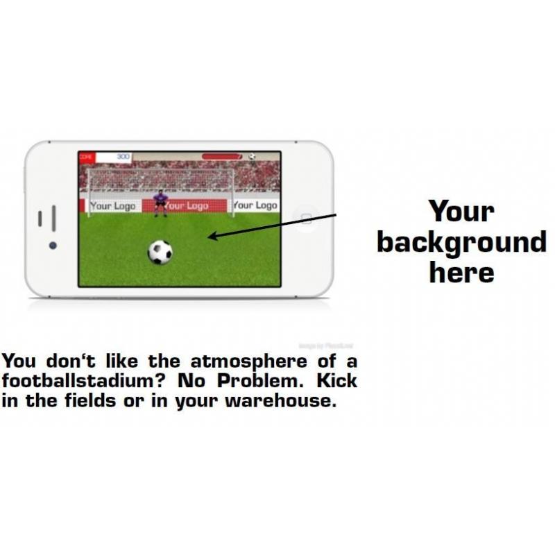 uw eigen voetbal spel voor op je mobiele telefoon
