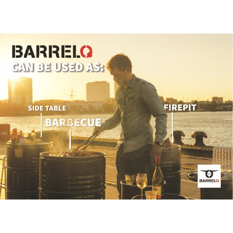 Olievat wordt barbeque