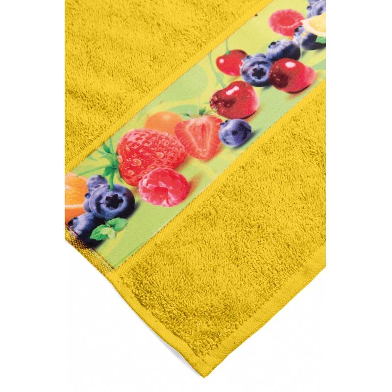 Handdoek met custom made sublimatiestrook