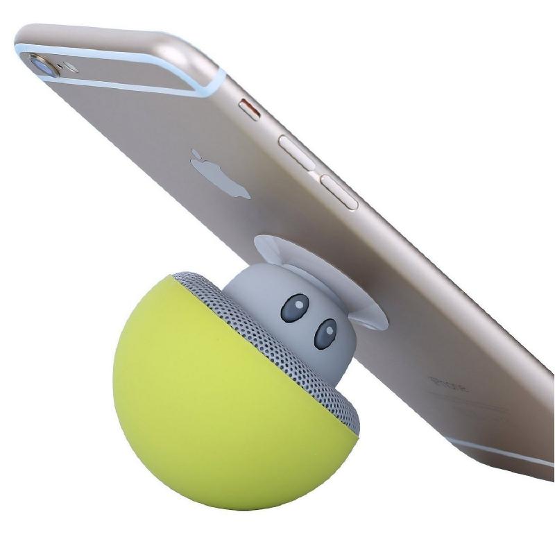 Bluetooth speaker in de vorm van een paddenstoel