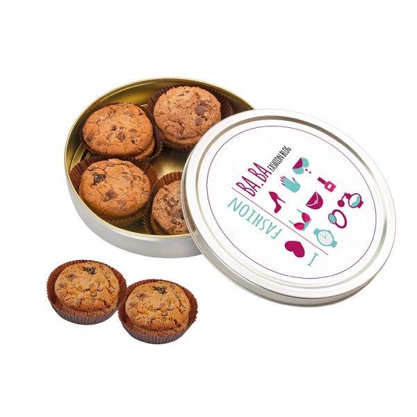 Tinnen blik met american cookies
