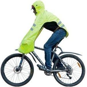 Reflecterende regencover voor fietsers