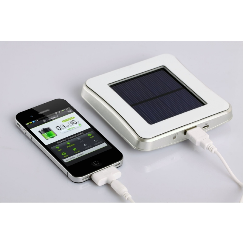 Solar powerbank met raambevestiging