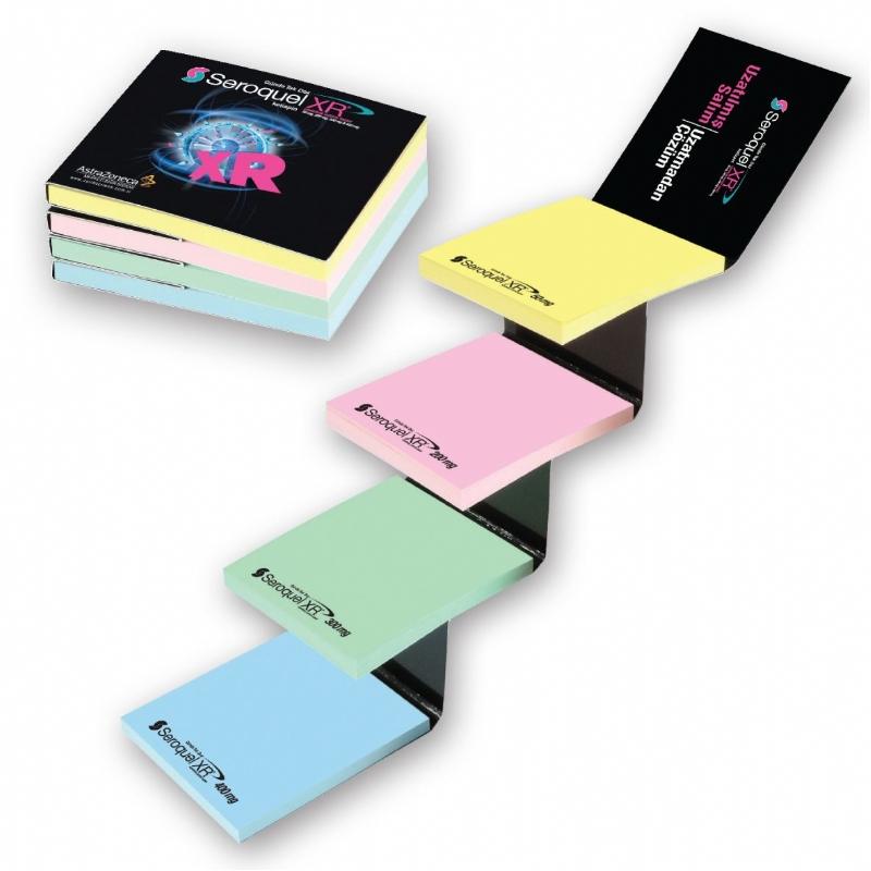 Sticky Note Pads met 4 elementen