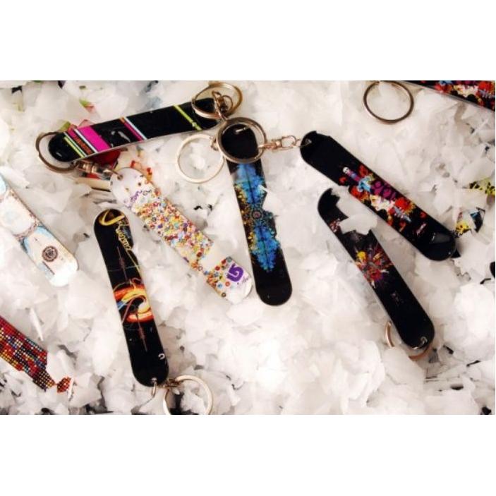 Sleutelhanger ski of snowboard