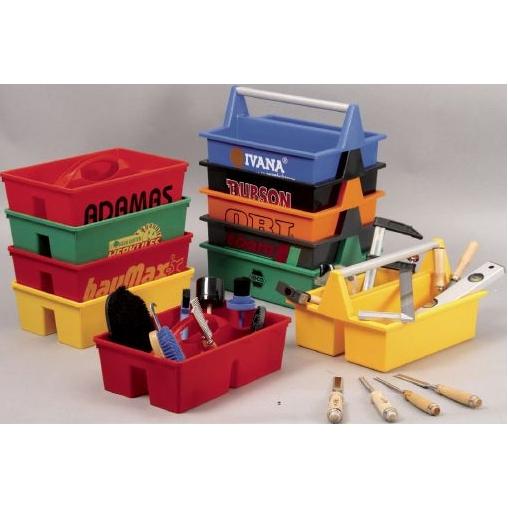 Stapelbare gereedschapsbakken in vele kleuren