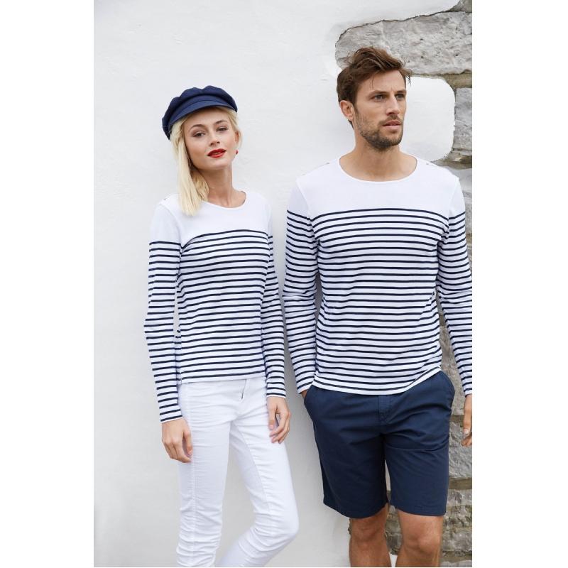 T-shirt met franse streepjeslook