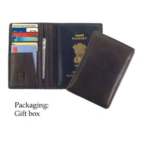 Lederen paspoortetui