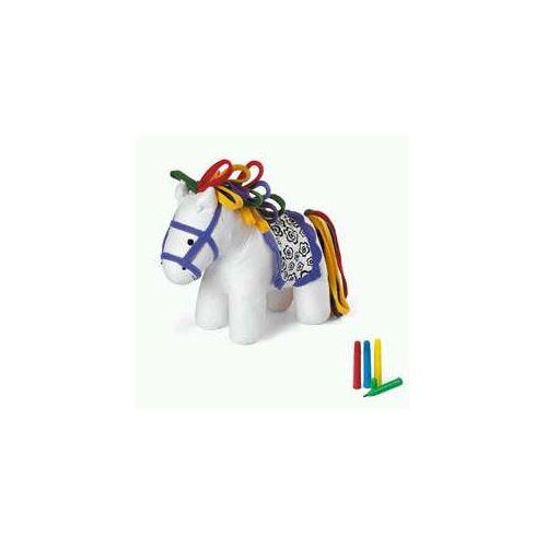 Pluche pony om in te kleuren