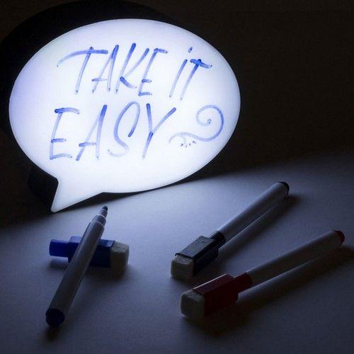 Message bord in de vorm van een tekstballon