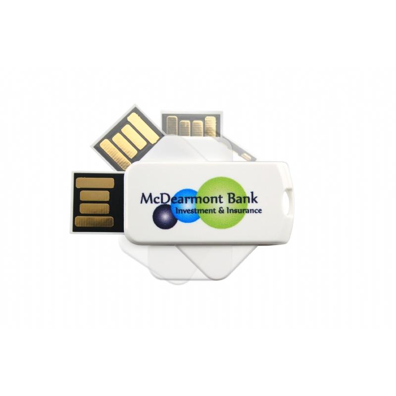 Kleine USB stick met uniek twistmechanisme