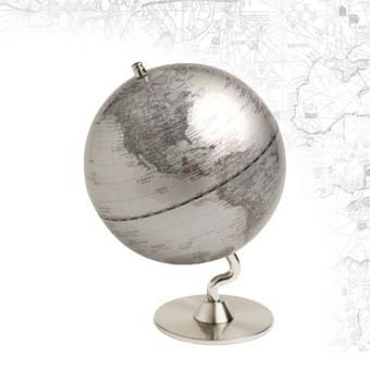 Wereldbol silverplated