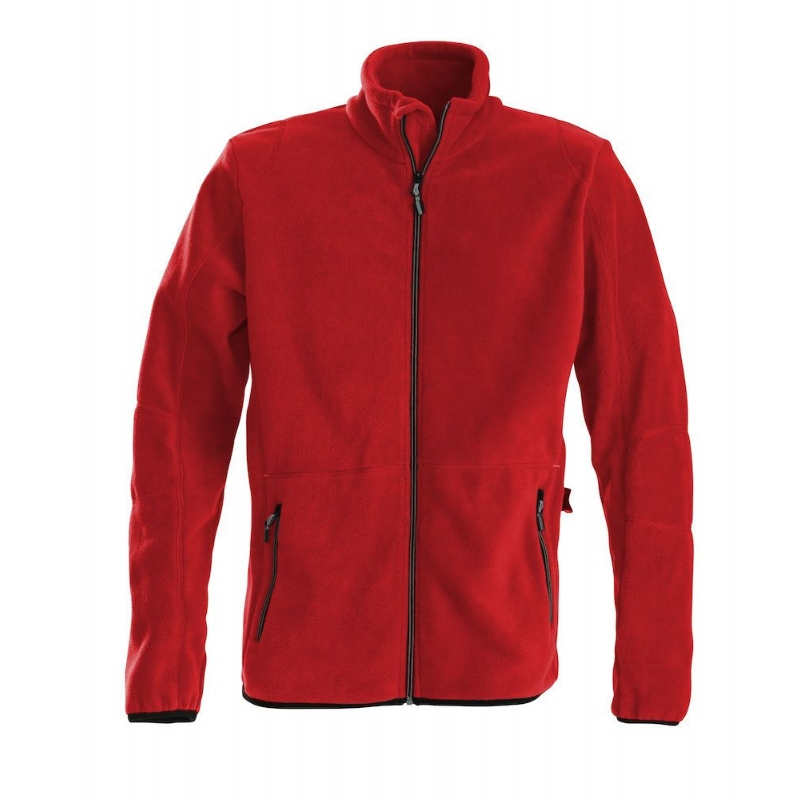 Fleece heren  met lange rits