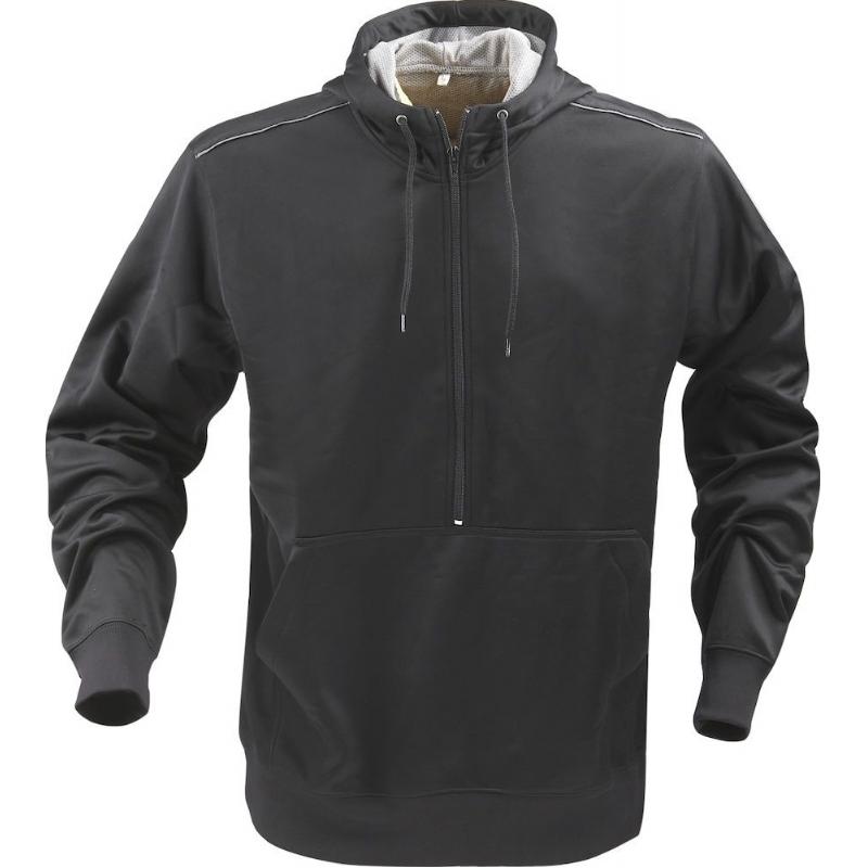 Sportieve PRINTER sweater met capuchon