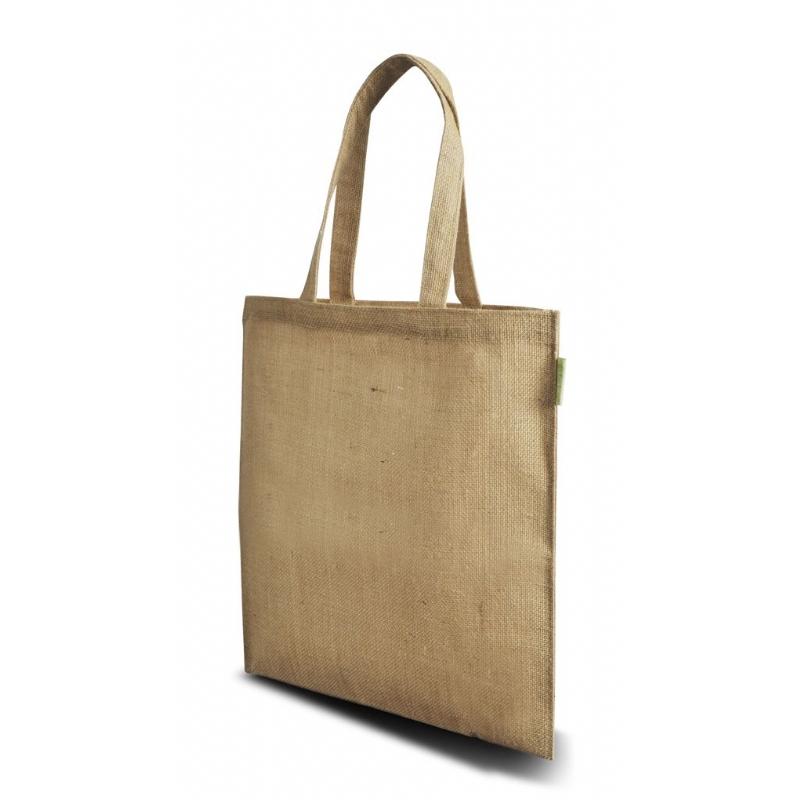 Duurzame jute tas, ideaal voor beurzen model Fairbag