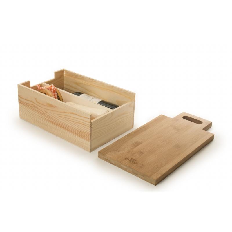 Say Cheese - wijn box en kaasplank/snijplank