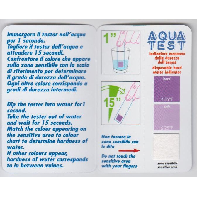 Hard water tester