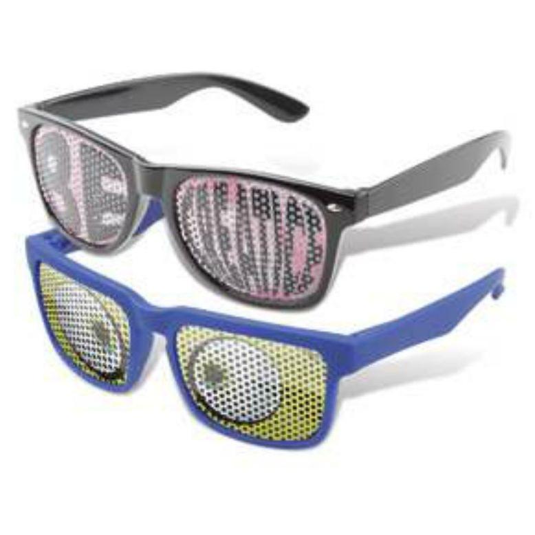 Party zonnebril met bedrukte glazen