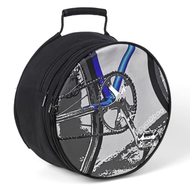 'groene' fietstas met regencape