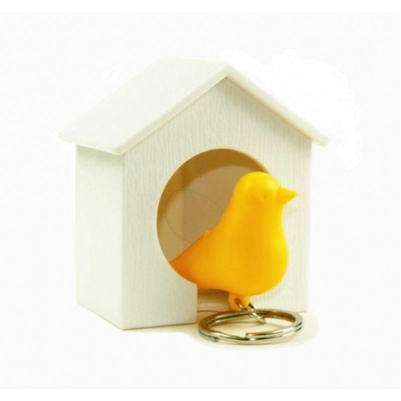 Vogelhuisje met sleutelhanger