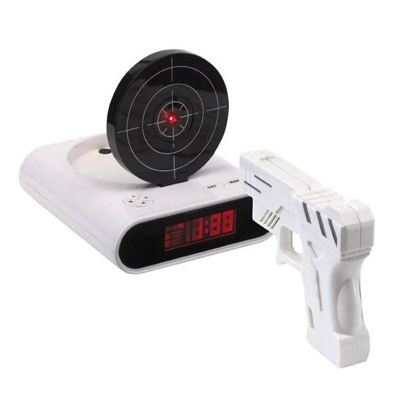 Alarmklok met pistool