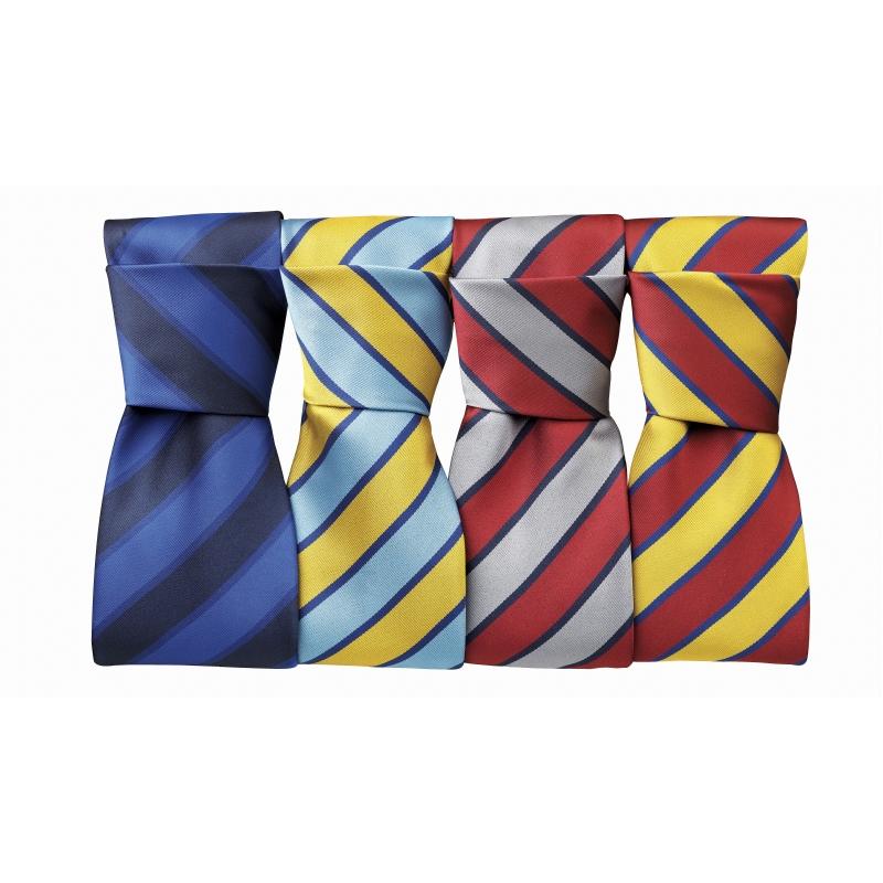 Gestreepte polyester stropdas