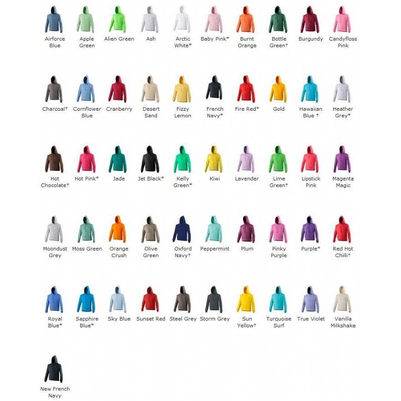Hoodie in 50 kleuren!