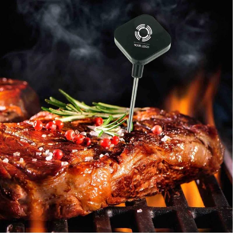 Draadloze thermometer om vlees te meten