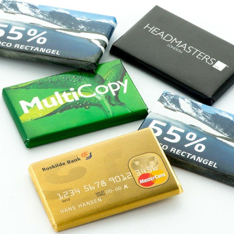 Creditcard chocolade