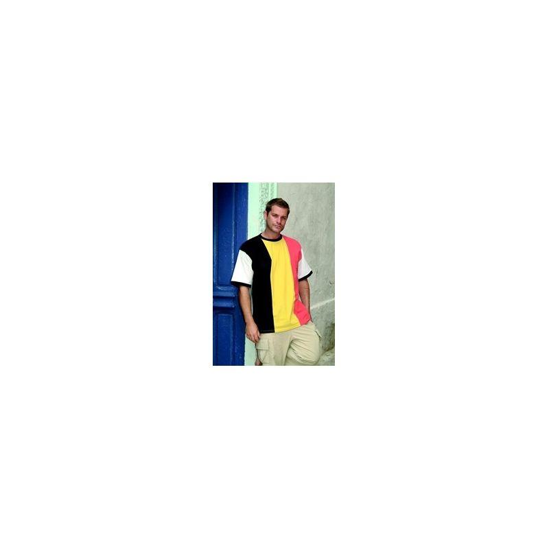 T-shirt in Belgische 3 kleur Mannen