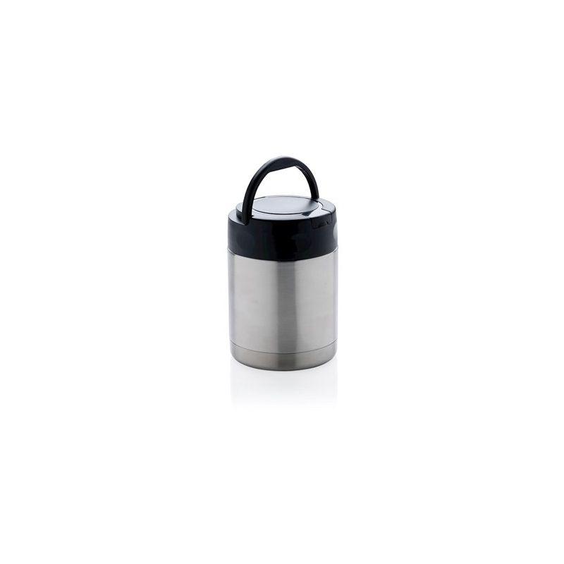 Voedselcontainer met vacuüm isolatie en handvat