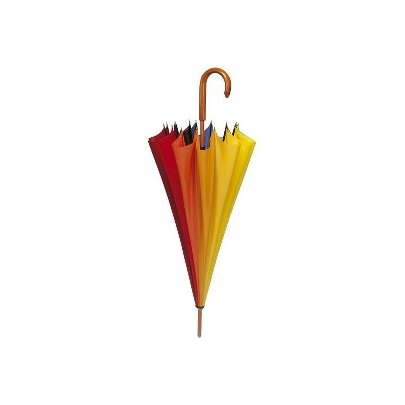 Paraplu met regenboogkleuren
