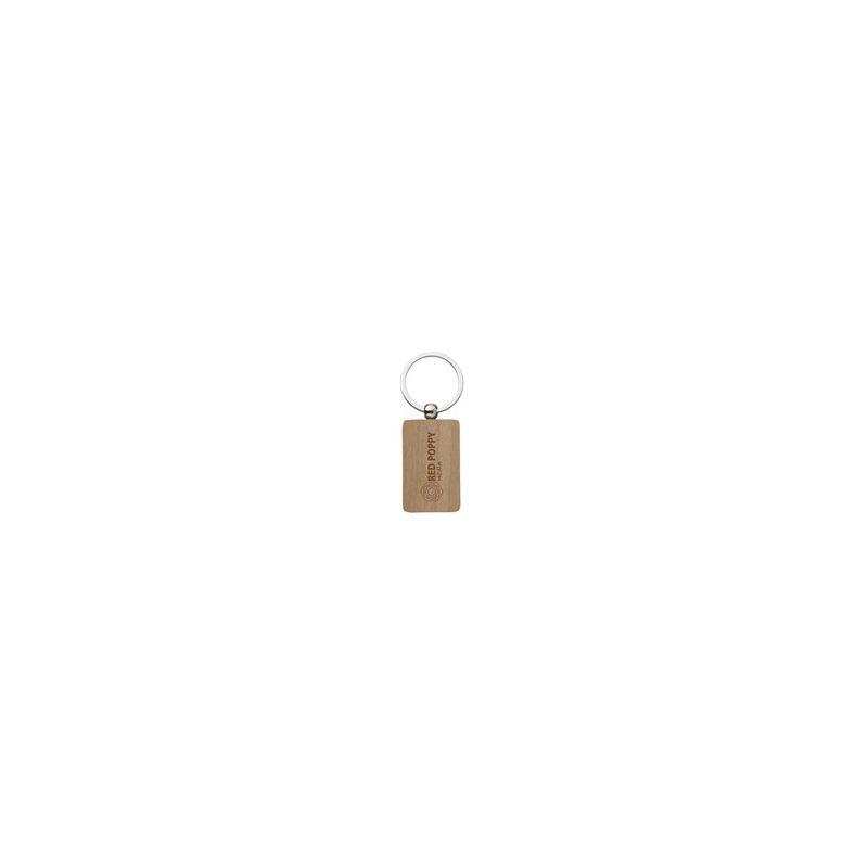 Stijlvolle houten sleutelhanger