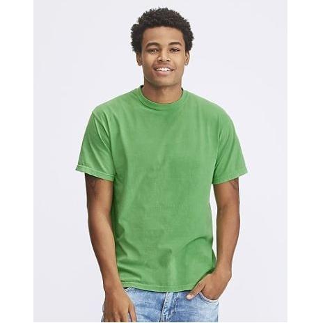 Vintage look t-shirt in vele hippe kleuren voor hem