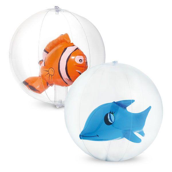 Opblaasbare bal met vis of dolfijn