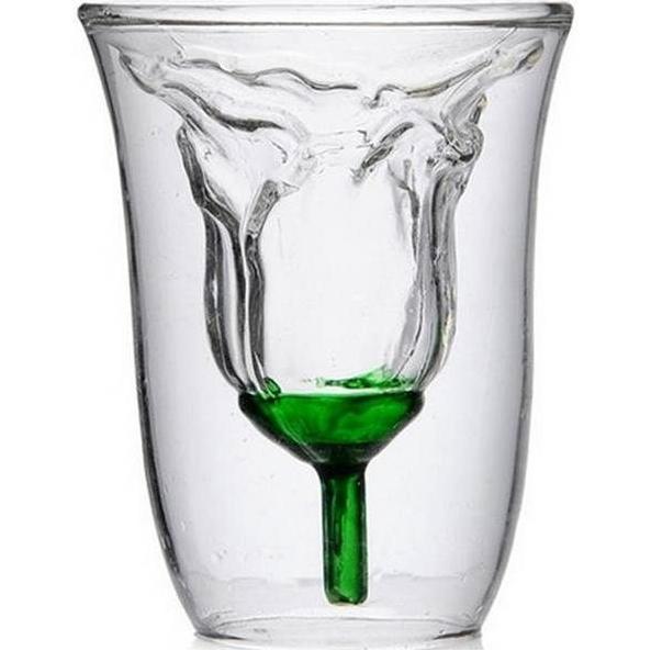 Glas met roos