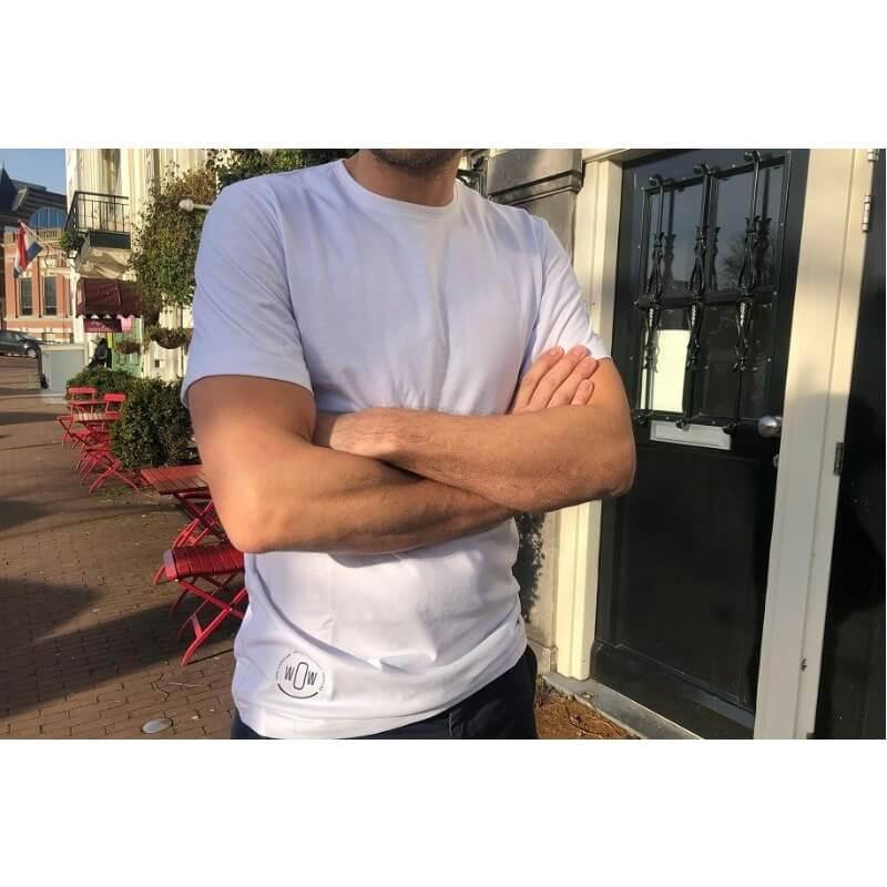 Wit t-shirt van gerecyclede petflessen