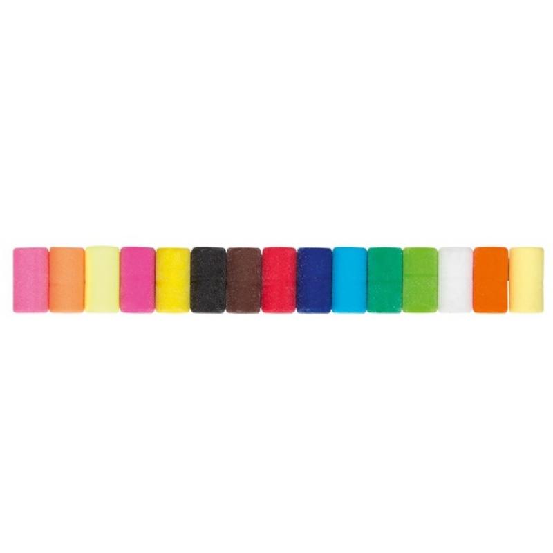 Potlood met gom in verschillende kleuren