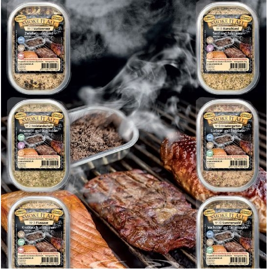 Rook- en grill schaaltje