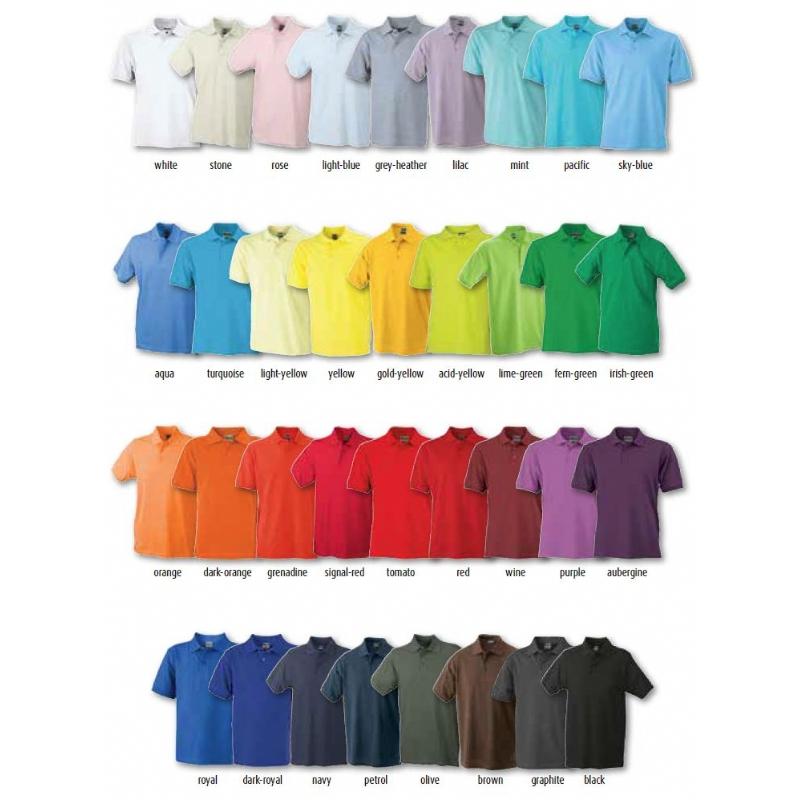 Polo leverbaar in 35 kleuren!