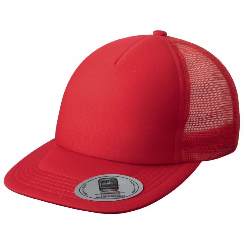 Retro Baseballcap met platte klep