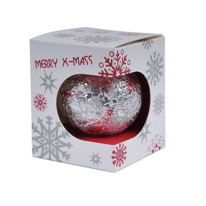 Chocolade kerstbal in individueel doosje