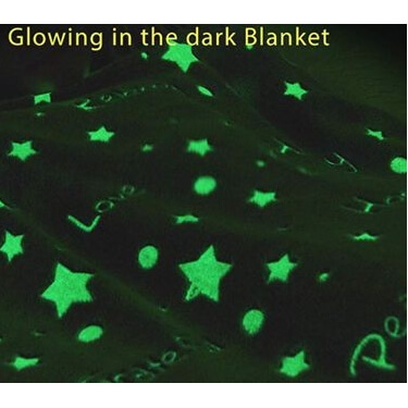 Fluorescerend  glow in the dark dekentje