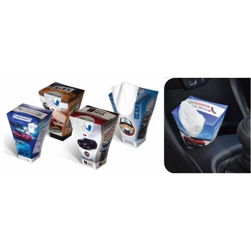 Doos met 50 zakdoeken voor in de auto