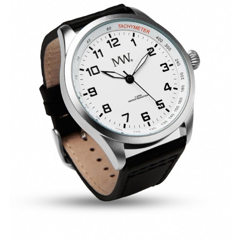 Stijlvol horloge met lederen bandje.