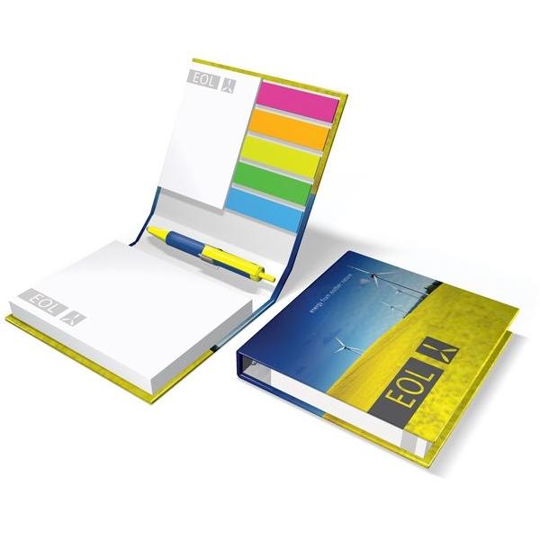 Hardcover notitieblokje met balpen