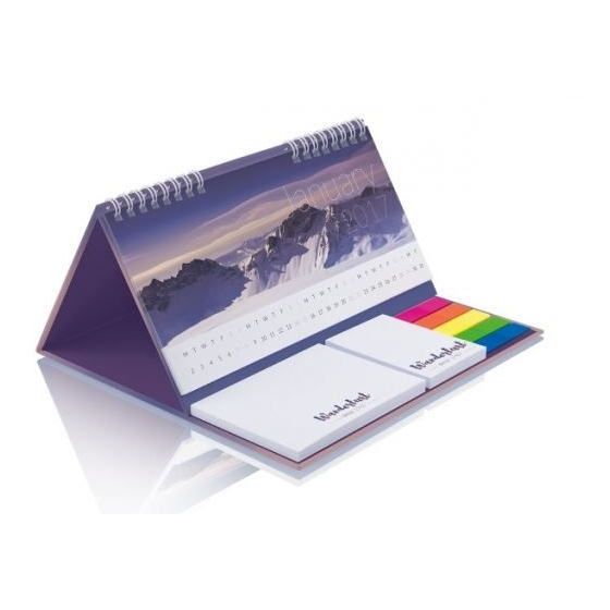 Kalender met sticky notes