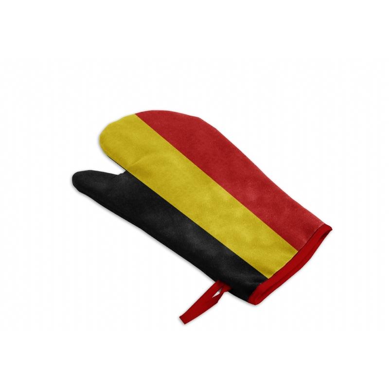 Belgisch getinte ovenwant of barbecue handschoen