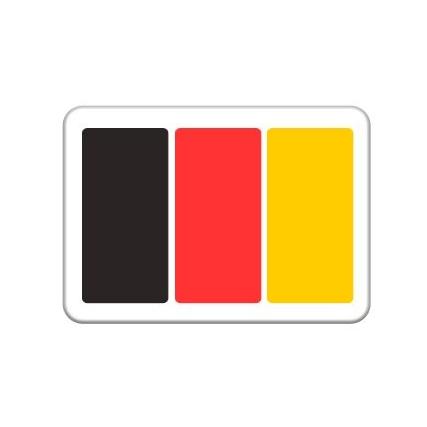 Verf je gezicht in de Belgische driekleur